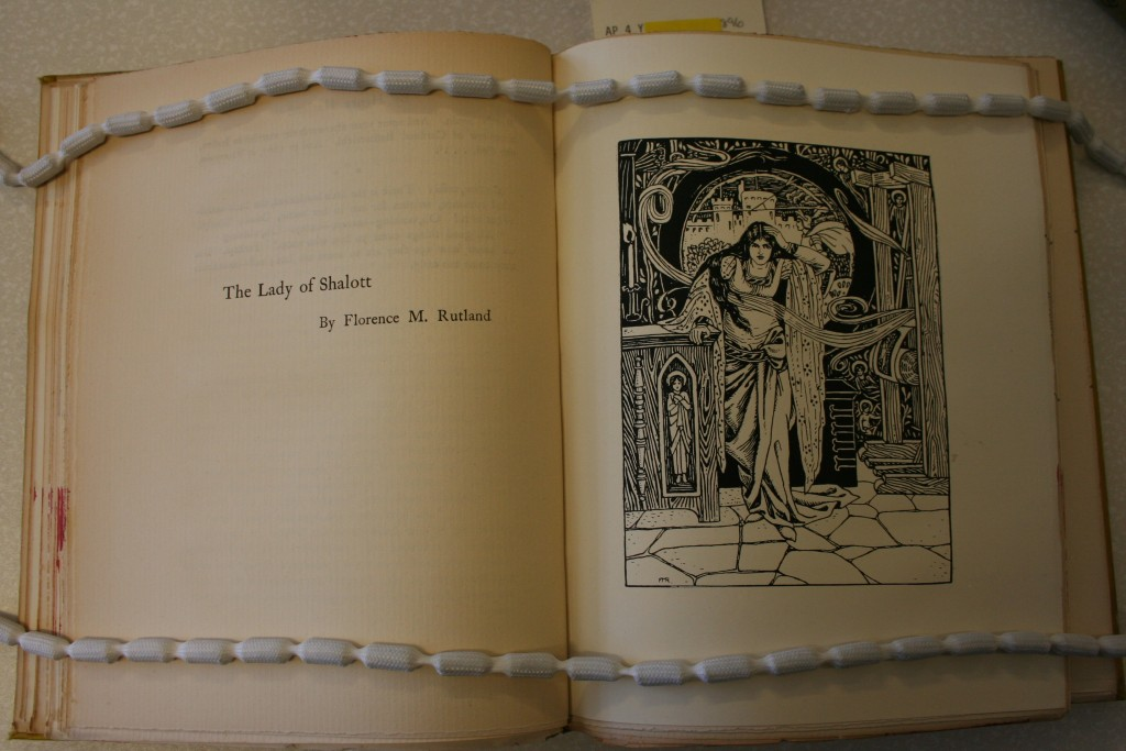 "(""The Lady of Shallot"") (Image appears courtesy of University of Calgary Special Collections.)"