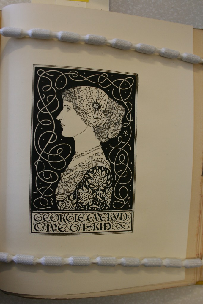 "(""A Book Plate for Georgie Evelyn Cave Gaskin"") (Image appears courtesy of University of Calgary Special Collections.)"