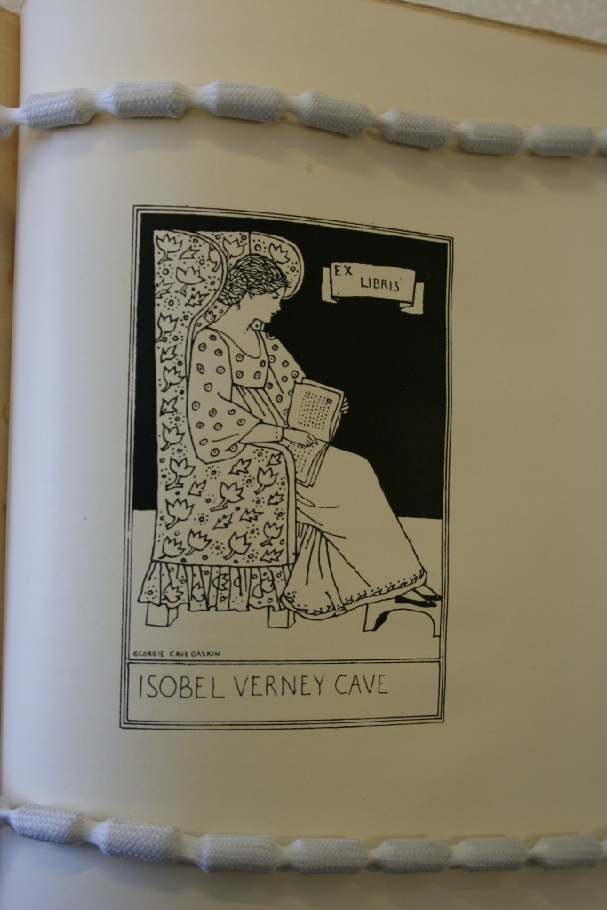 "(""A Book Plate For Isobel Verney Cave"")  (Image appears courtesy of University of Calgary Special Collections.)"